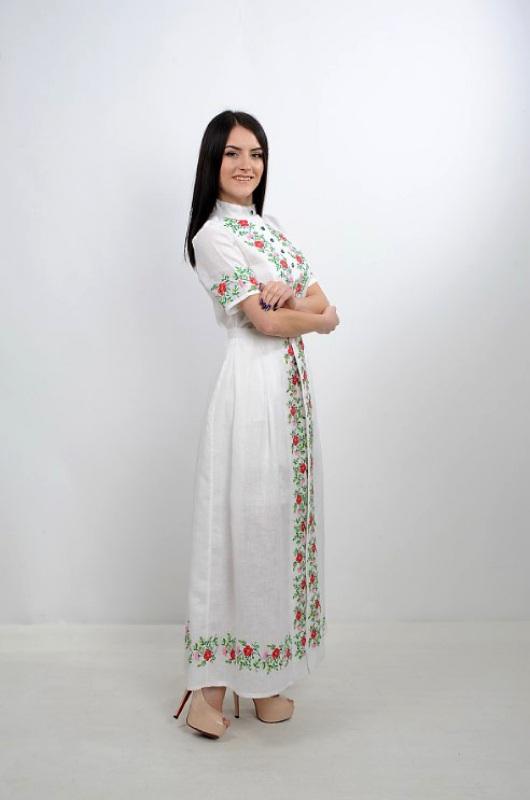Платье Ч 7235 Белый 100% лен Chichka - фото 3