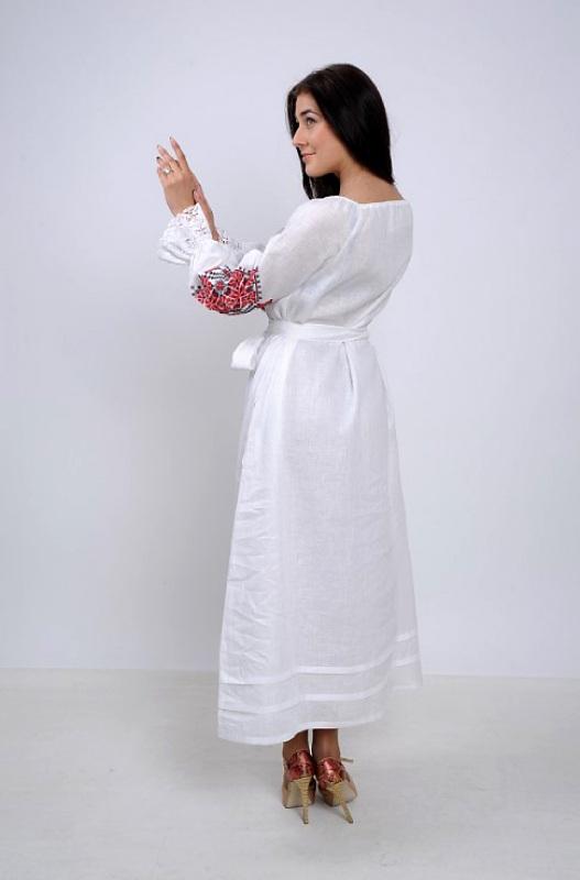 Платье Ч 7250 Белый 100% лен Chichka - фото 4