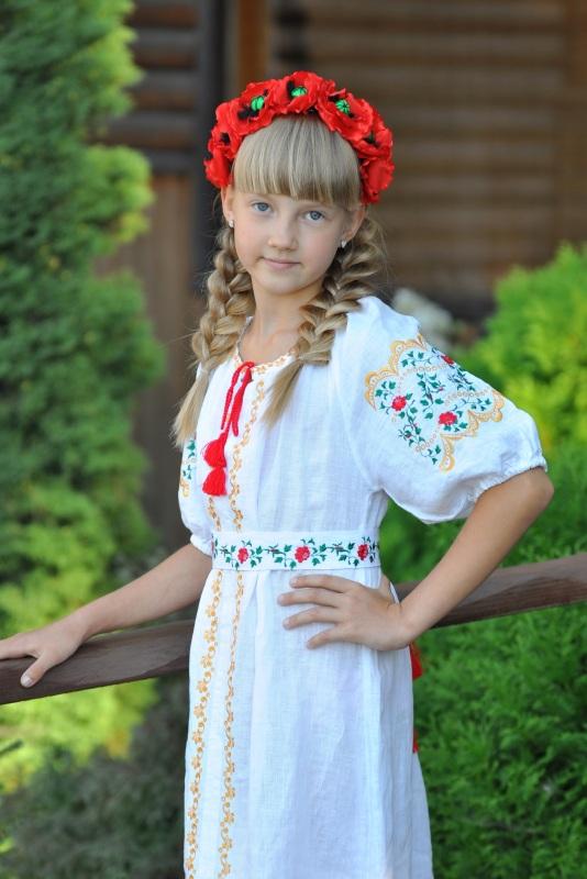 Платье Ч 7195 Белый 100% лен Chichka - фото 1