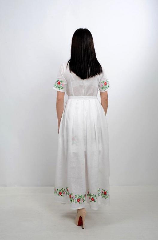Платье Ч 7235 Белый 100% лен Chichka - фото 7