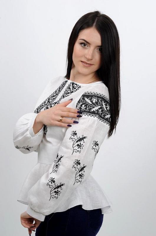 Рубашка Ч 7231 Белый 100% лен Chichka - фото 5