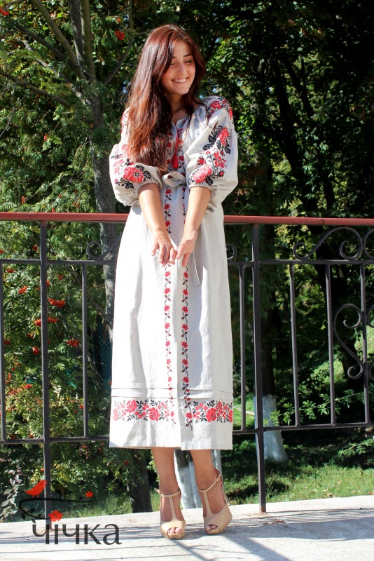 Платье Ч 7203 Белый 100% лен Chichka - фото 4