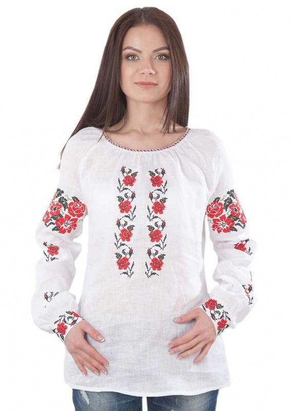 Рубашка БЛ-173 Белый 100% лен Chichka - фото 1