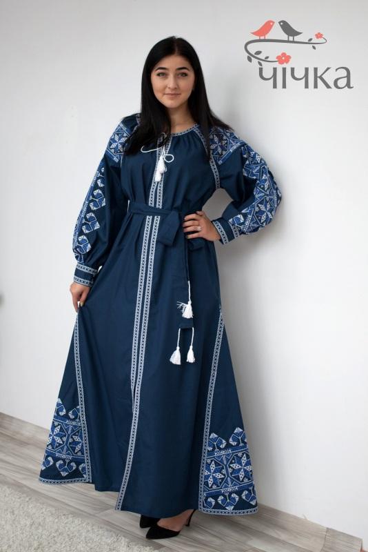 Платье Ч 7269 Синий Итальянский 100% хлопок Chichka - фото 3