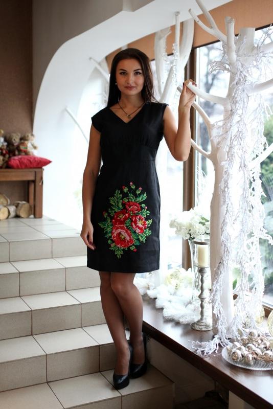 Платье Ч 7076 Черный 100% лен Chichka - фото 1