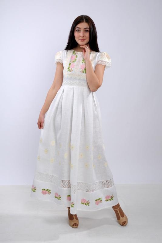 Платье Ч 7256 Белый 100% лен + натуральное кр Chichka - фото 5