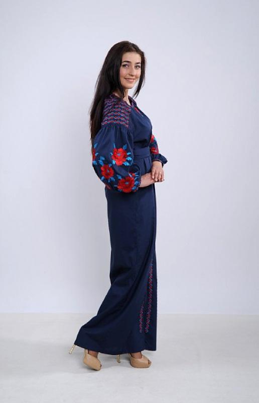Платье Ч 7259 Синий бавовна Chichka - фото 2