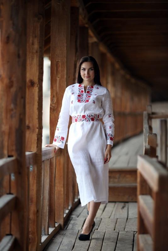 Платье Ч 7081 Белый 100% лен Chichka - фото 4