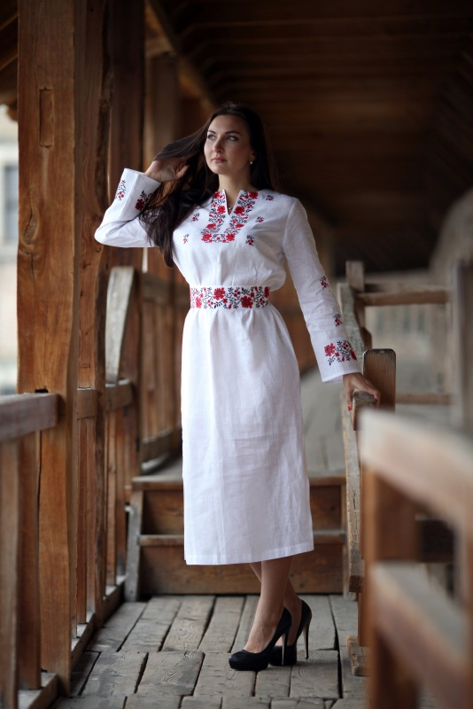 Платье Ч 7081 Белый 100% лен Chichka - фото 3