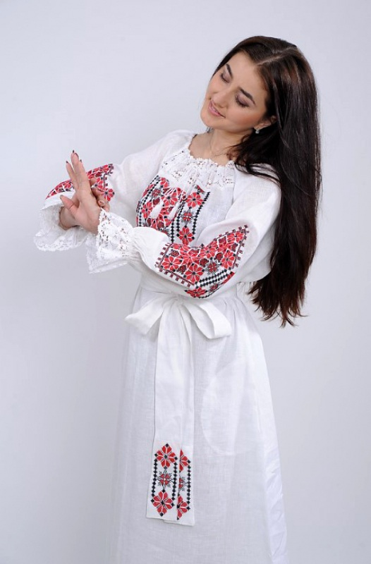 Платье Ч 7250 Белый 100% лен Chichka - фото 2