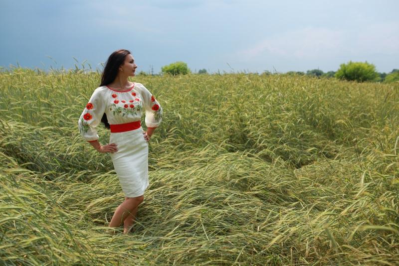 Платье Ч 7055 Белый 100% лен Chichka - фото 1