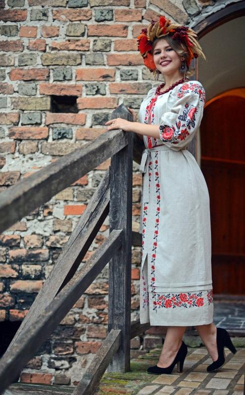 Платье Ч 7203 Белый 100% лен Chichka - фото 1