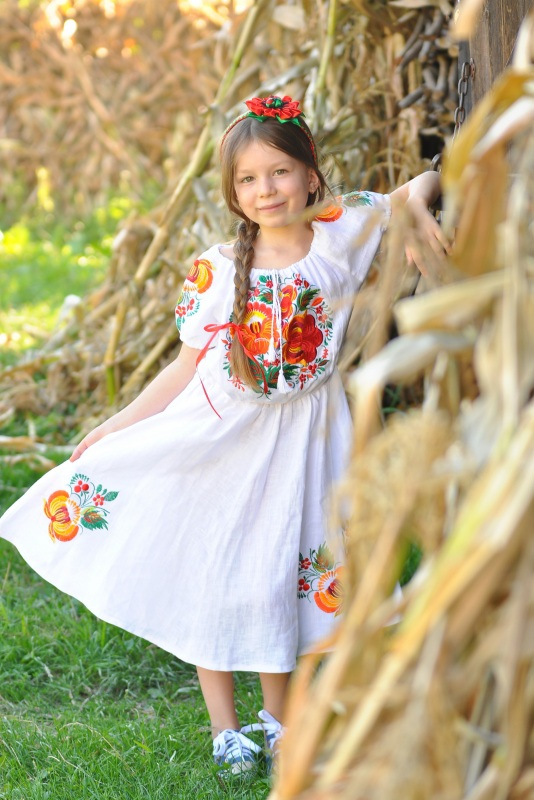 Платье Ч 7194 Белый 100% лен Chichka - фото 1
