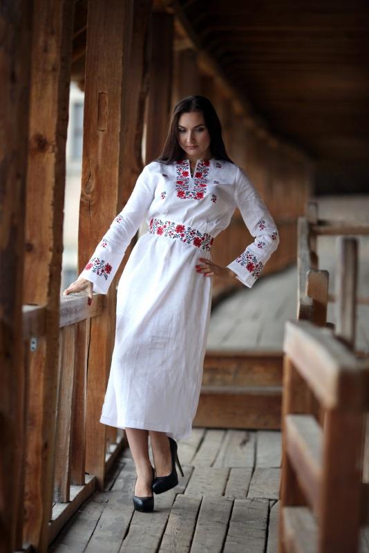 Платье Ч 7081 Белый 100% лен Chichka - фото 1