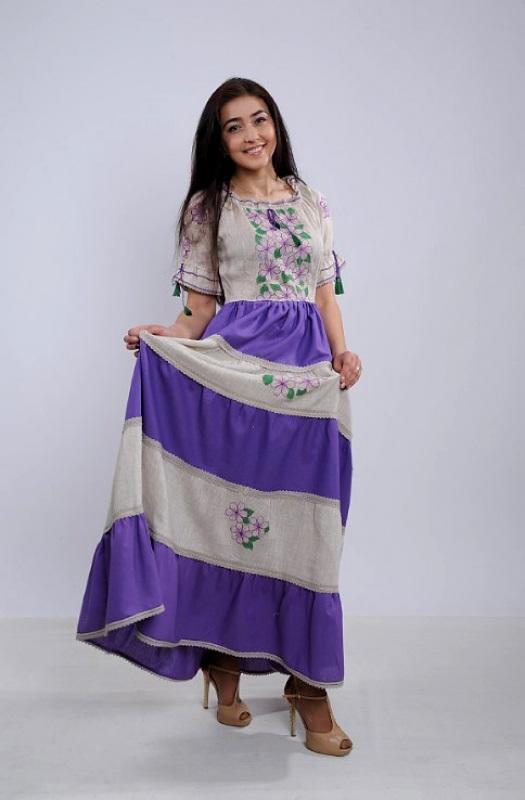 Платье Ч 7263 Разноцветный 100% лен Chichka - фото 2