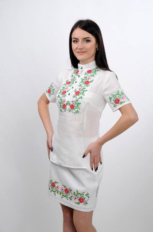 Платье Ч 7235 Белый 100% лен Chichka - фото 4