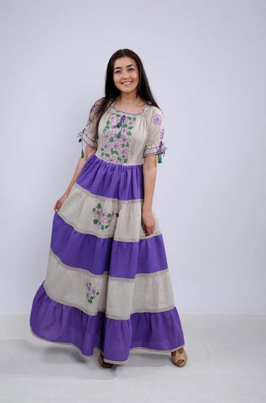 Платье Ч 7263 Разноцветный 100% лен Chichka - фото 1