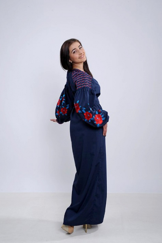 Платье Ч 7259 Синий бавовна Chichka - фото 4