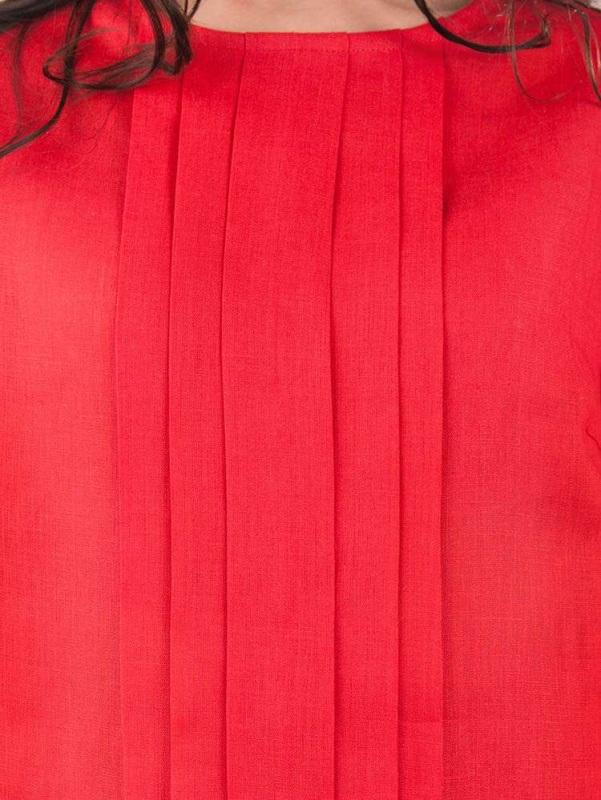Платье СЛ-162 Красный 100% лен Chichka - фото 3