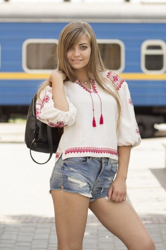 Рубашка Ч 7297 Белый лен-хлопок Chichka - фото 4