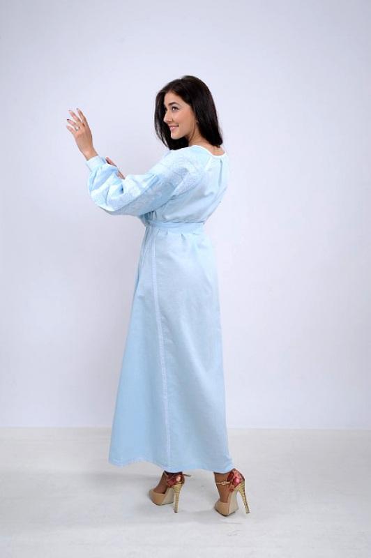 Платье Ч 7251 Голубой 100% лен Chichka - фото 3