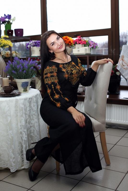 Платье Ч 7078 Черный 100% лен Chichka - фото 1