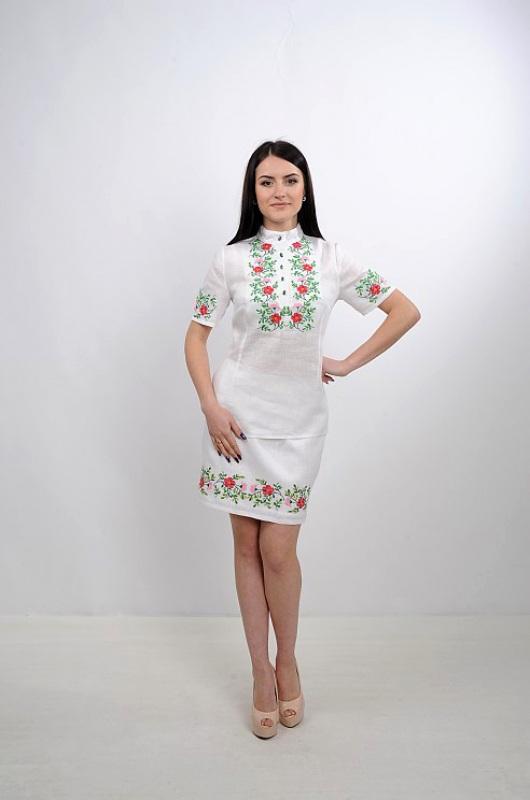 Платье Ч 7235 Белый 100% лен Chichka - фото 1
