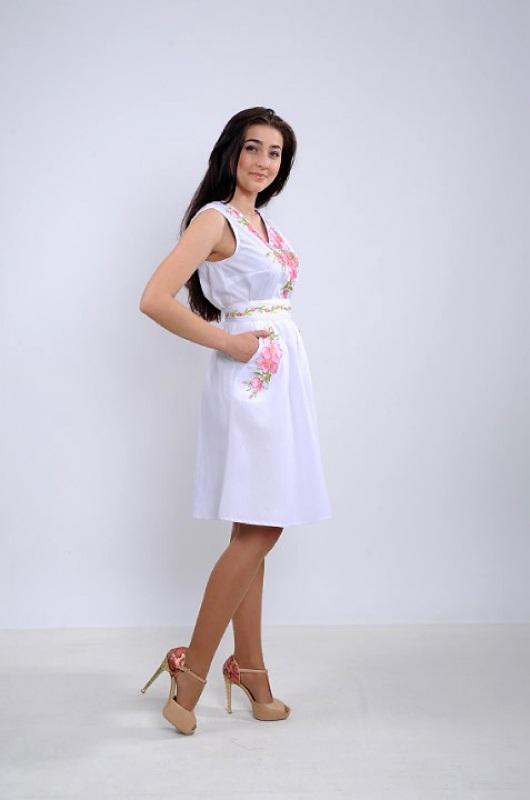 Платье Ч 7265 Белый бавовна Chichka - фото 3