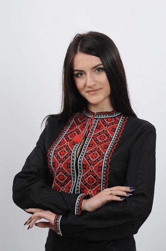 Рубашка Ч 7232 Черный 100% лен Chichka - фото 3