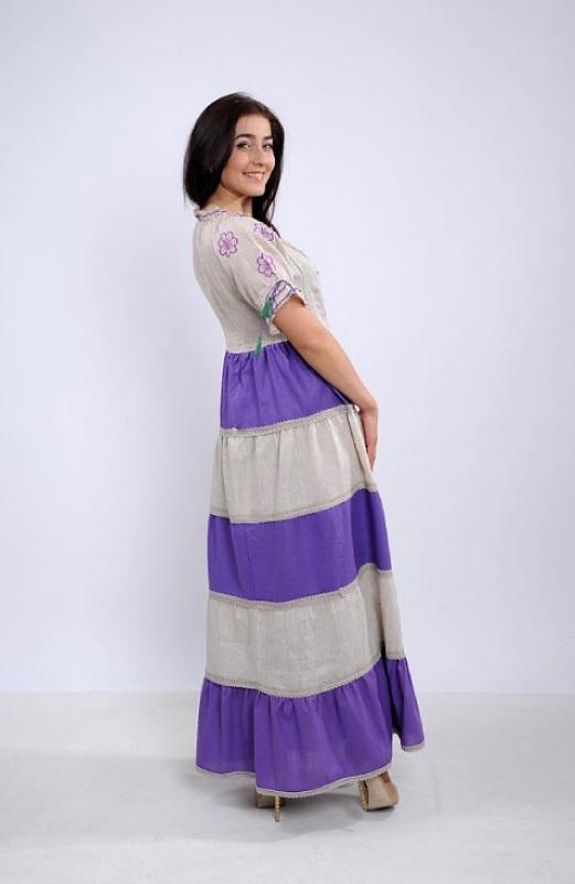 Платье Ч 7263 Разноцветный 100% лен Chichka - фото 3