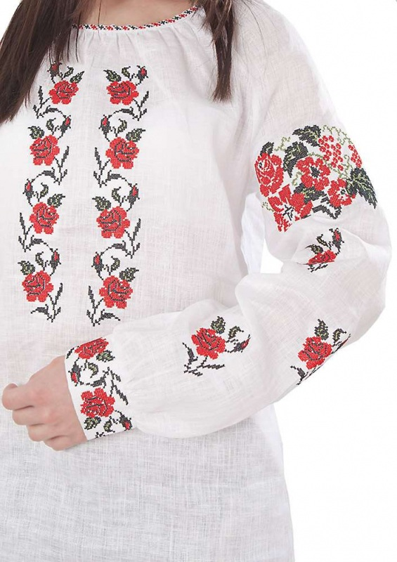 Рубашка БЛ-173 Белый 100% лен Chichka - фото 2