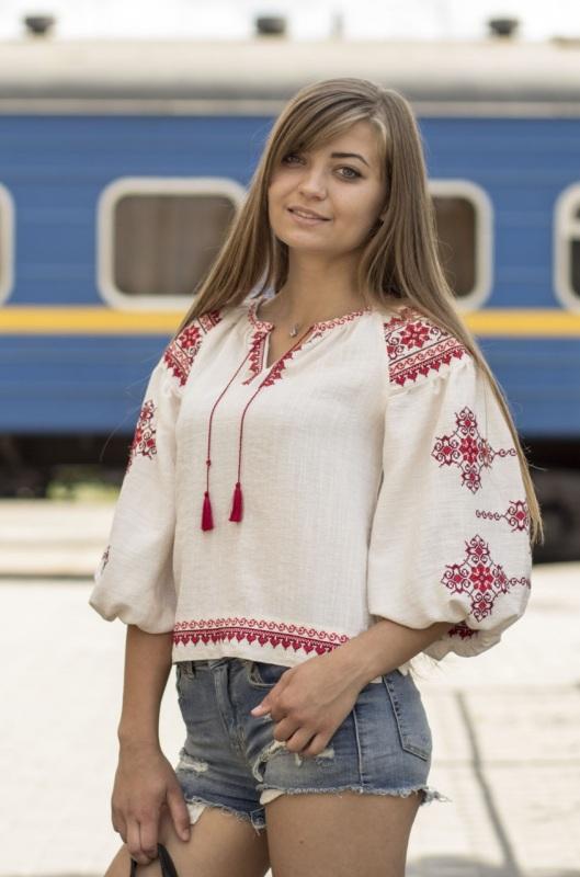 Рубашка Ч 7297 Белый лен-хлопок Chichka - фото 5