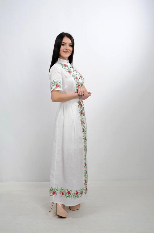 Платье Ч 7235 Белый 100% лен Chichka - фото 6