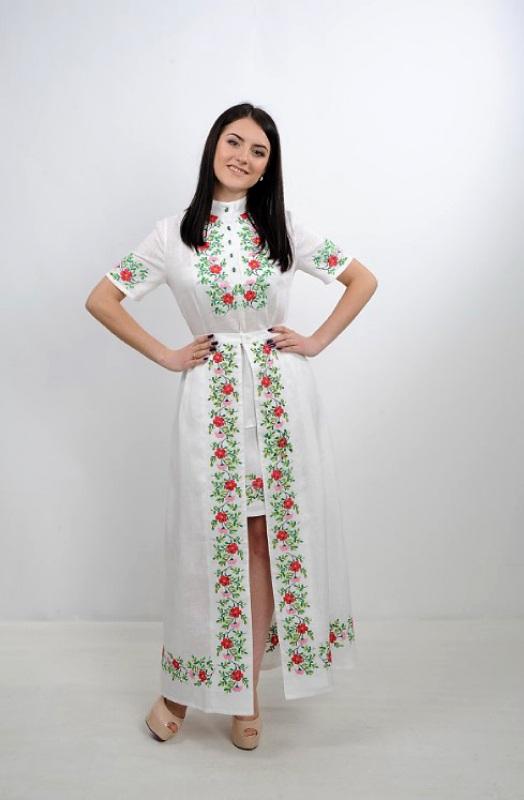 Платье Ч 7235 Белый 100% лен Chichka - фото 5