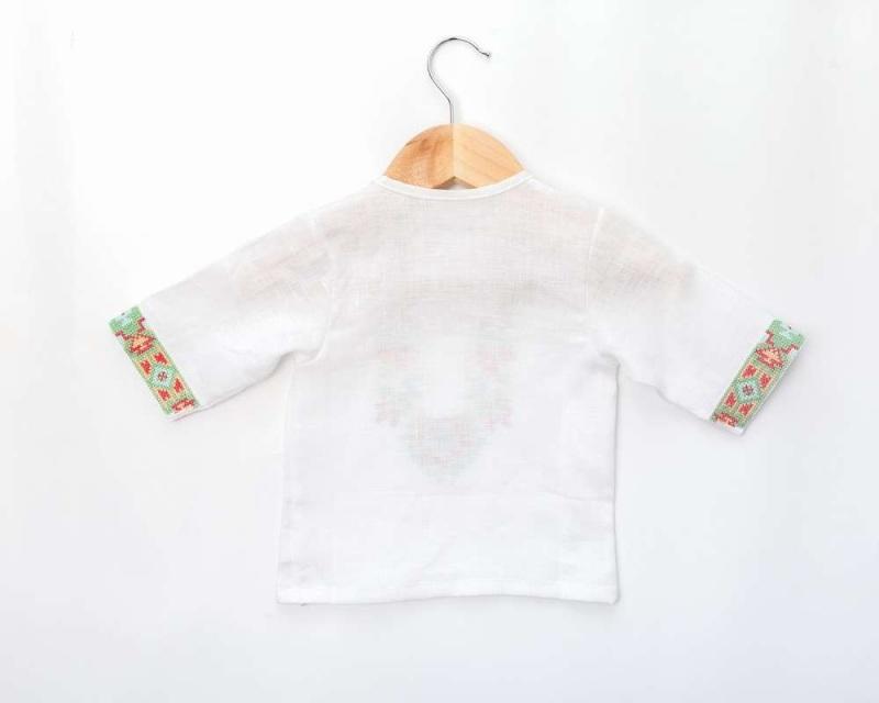 Рубашка детская СБ-022 Белый 100% лен Chichka - фото 6