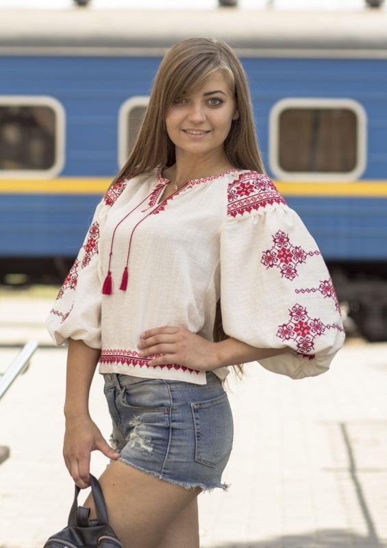 Рубашка Ч 7297 Белый лен-хлопок Chichka - фото 1