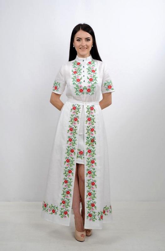 Платье Ч 7235 Белый 100% лен Chichka - фото 2
