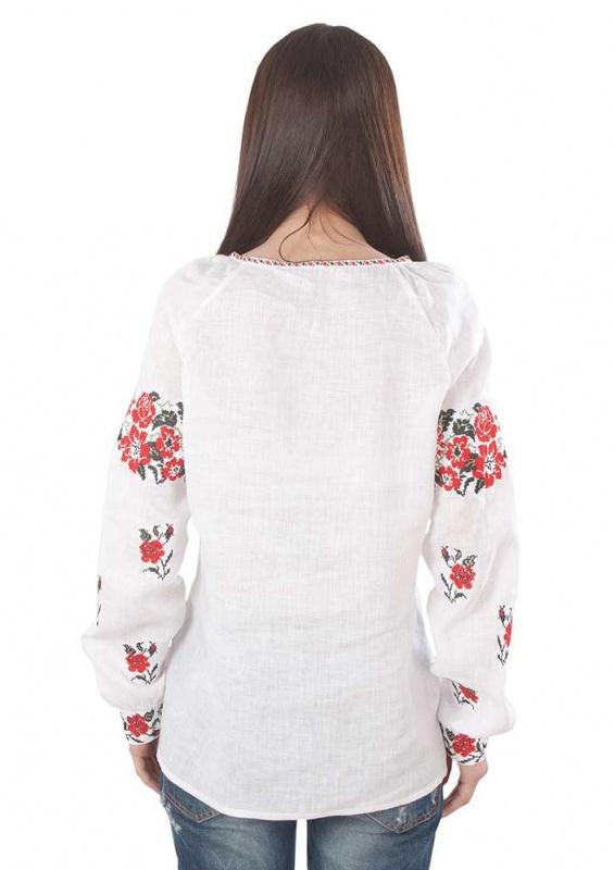Рубашка БЛ-173 Белый 100% лен Chichka - фото 3