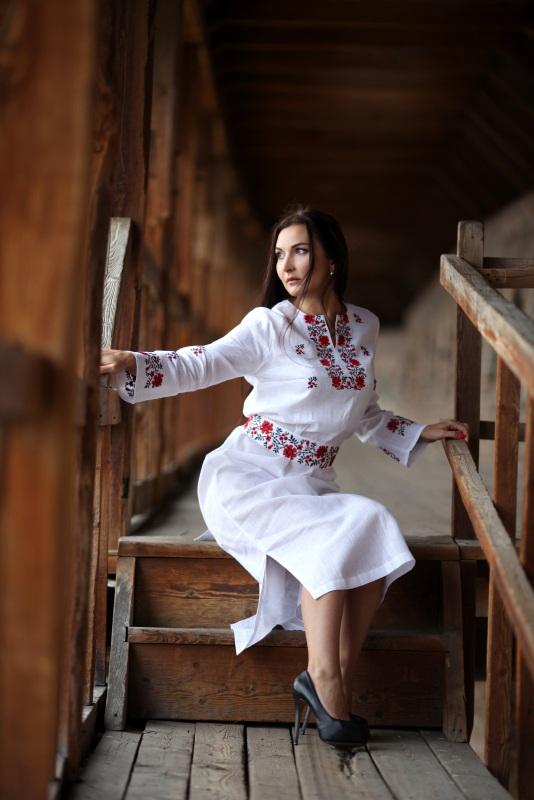 Платье Ч 7081 Белый 100% лен Chichka - фото 2