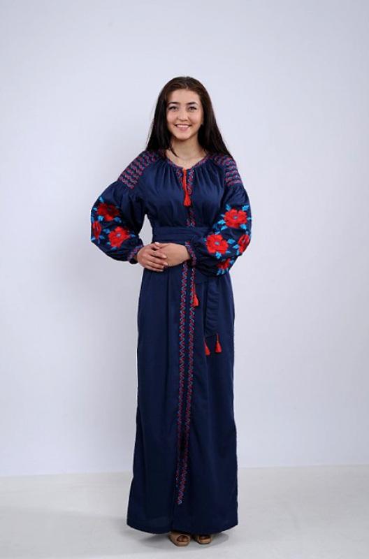 Платье Ч 7259 Синий бавовна Chichka - фото 1