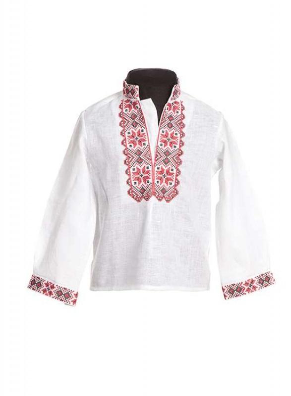 Рубашка СБ-019 Белый 100% лен Chichka - фото 1