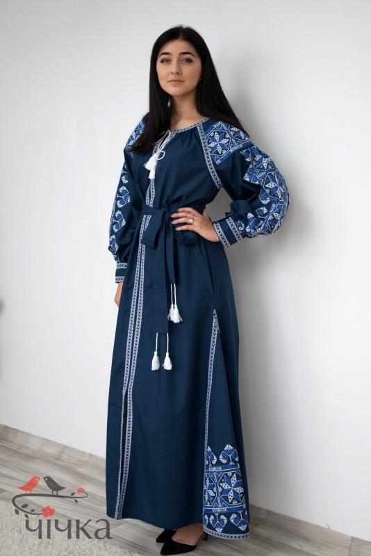 Платье Ч 7269 Синий Итальянский 100% хлопок Chichka - фото 4