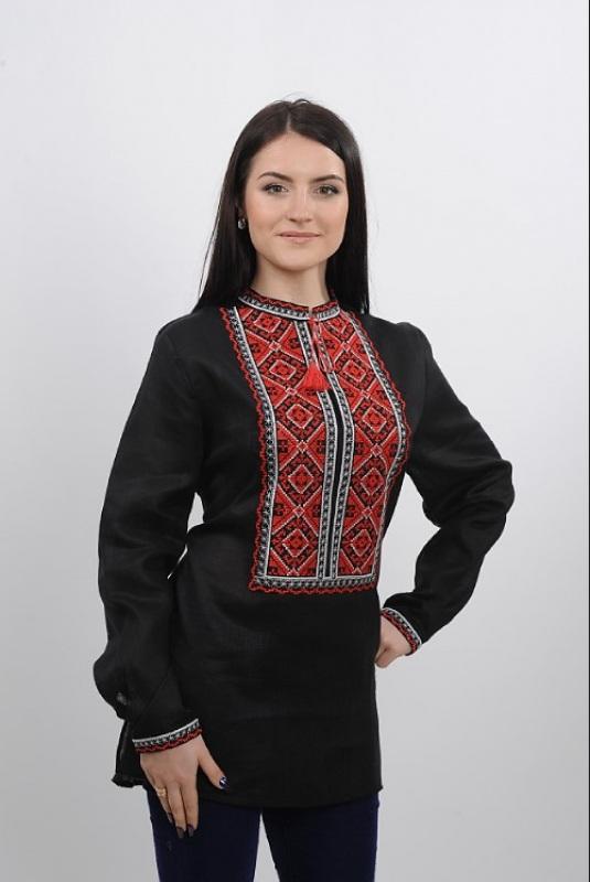 Рубашка Ч 7232 Черный 100% лен Chichka - фото 1