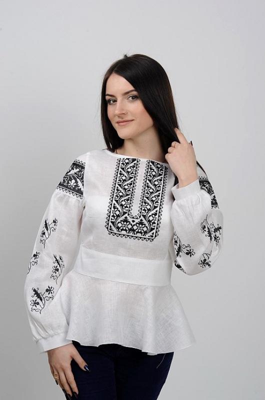 Рубашка Ч 7231 Белый 100% лен Chichka - фото 1