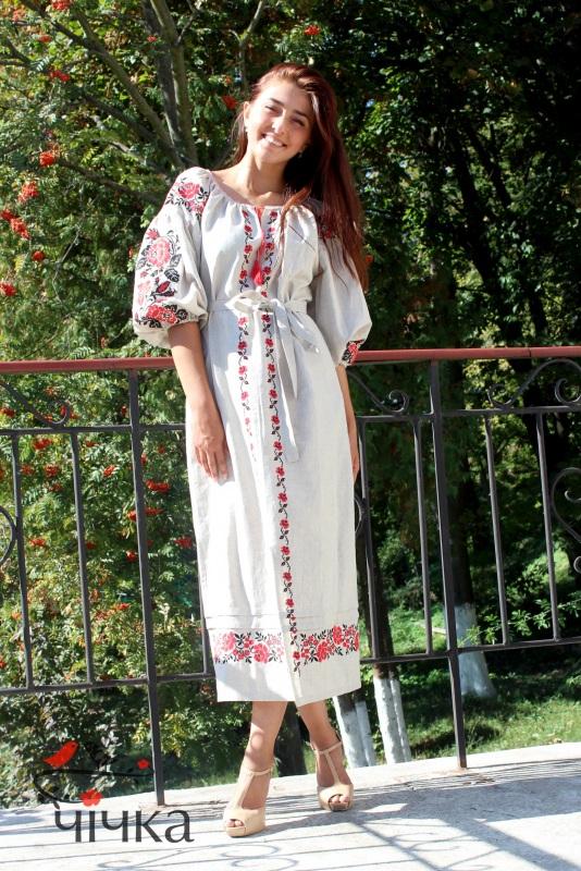 Платье Ч 7203 Белый 100% лен Chichka - фото 3