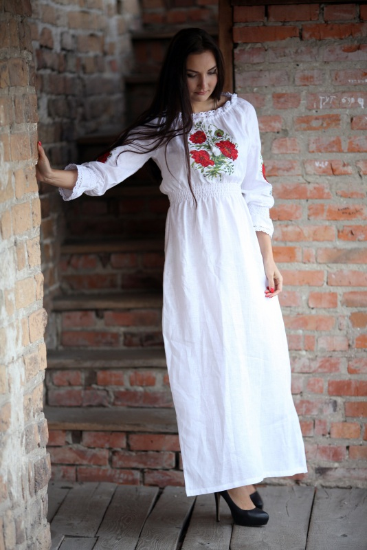 Платье Ч 7082 Белый 100% лен Chichka - фото 1
