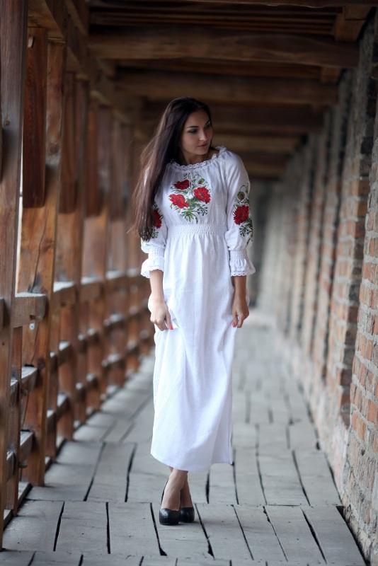 Платье Ч 7082 Белый 100% лен Chichka - фото 2