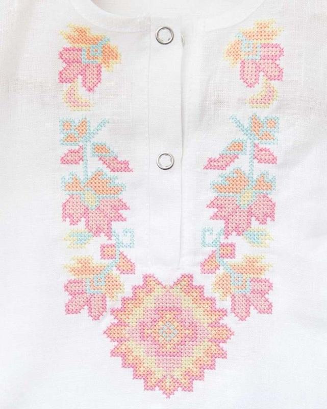 Рубашка детская СБ-022 Белый 100% лен Chichka - фото 2