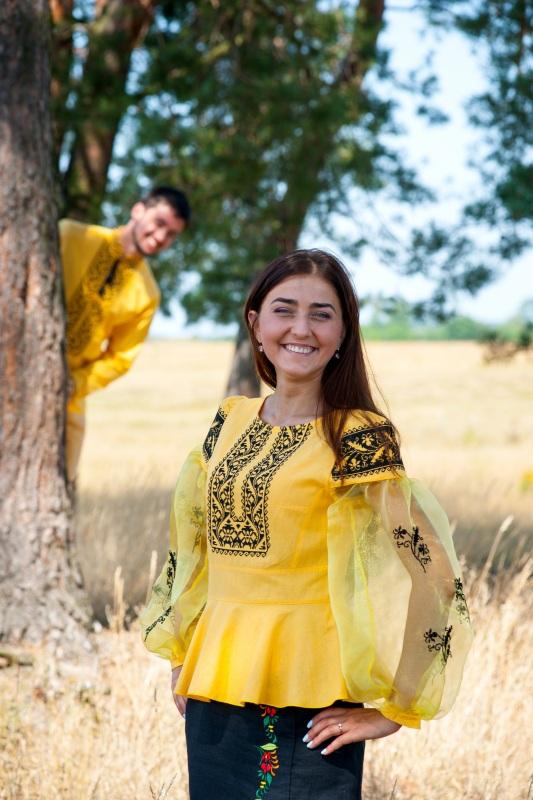 Рубашка Ч 7139 Желтый 100% хлопок Chichka - фото 3