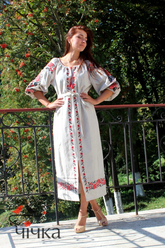 Платье Ч 7203 Белый 100% лен Chichka - фото 2